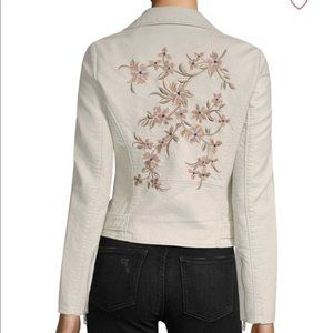 Driftwood Moto Jacket Embroidered Floral Sz Small